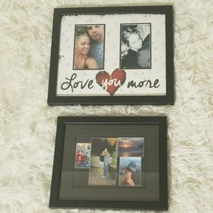 """Set of 2 Picture Frames """"love you more"""" quote"""